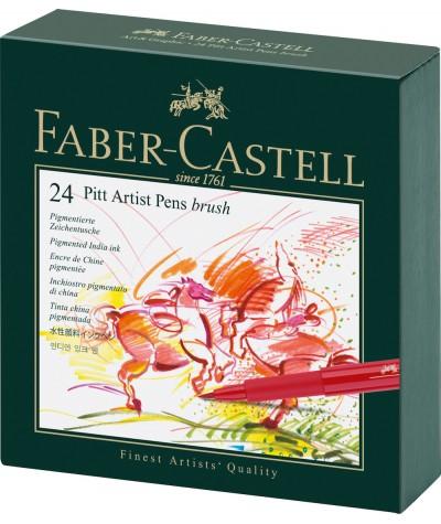 Set 24 rotuladores Pitt artist Faber Castell