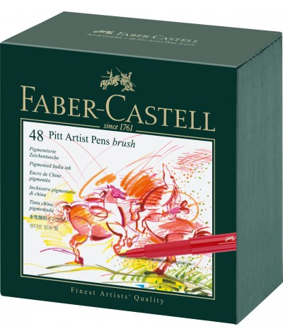 Rotuladores Faber Pitt artist 48 colores