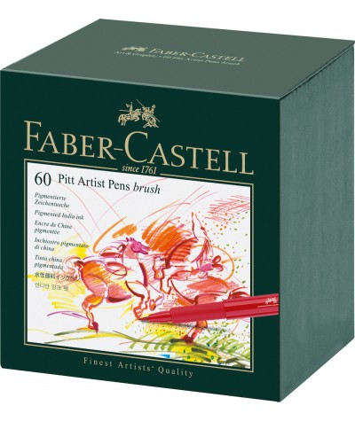 Caja 60 rotuladores Pitt Faber castell