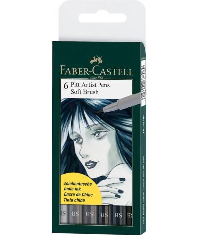 Soft brush Faber Castell pack 6