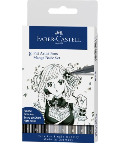 Set Manga 8 rotuladores Faber