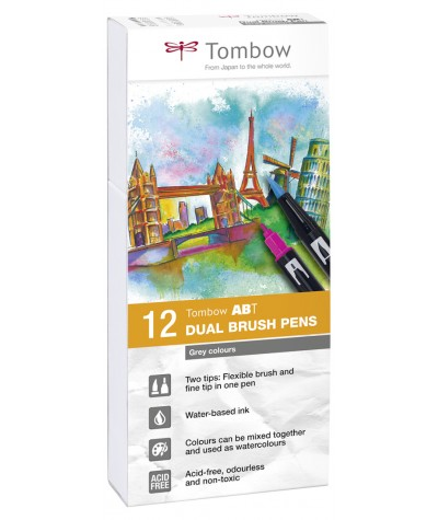 Tombow ATB rotuladores grises