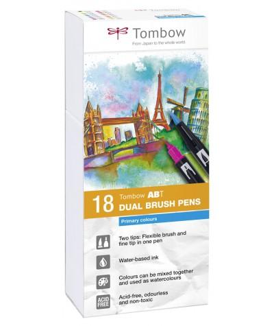 Tombow ABT Dual Brush 18 colores primarios