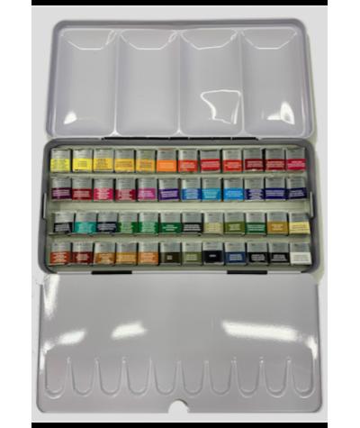 Caja acuarelas Winsor 48 colores