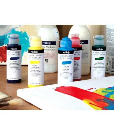Acrylic fluid colors...