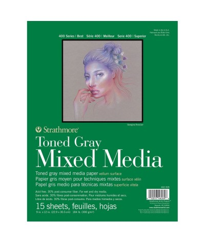 Bloc mix media color gris...