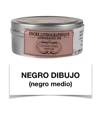Tinta litográfica negro dibujo