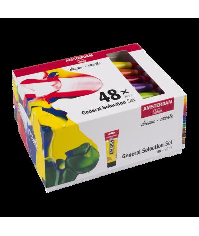 Set 48 colores acrílicos...