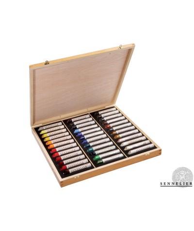 Caja 36 barras óleo Sennelier
